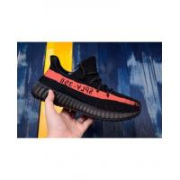 China Adidas Yeezy 350 V2 Black Shoes With Red Logo on sale