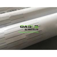Buy cheap 9 5/8inch stainless steel laser cut slotted liner and slot casing pipe for oil well drilling product