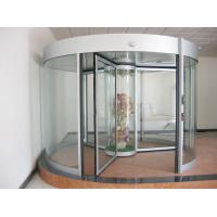 China Commercial Three wing automatic revolving door 150KG with central showcase on sale