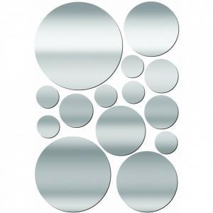 Decorative mirrored wall stickers