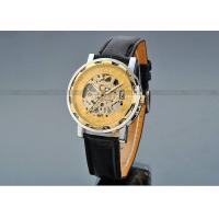 Buy cheap Leather Gold Dial Mens Automatic Watch 43mm Case , Sport Wrist Watch product