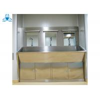 Buy cheap Three Mirrors Hand Washing Bathroom Basin Cabinets With Three Positions Automatic Induction product