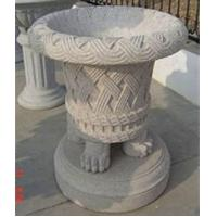 Buy cheap Classical Grey Granite Flowerpots, Delicate Garden Stone product