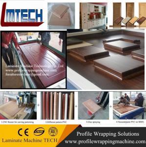 Buy cheap custom carved wooden doors furniture vacuum membrane press machine from wholesalers