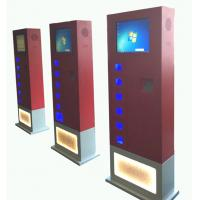 Buy cheap Red CRS free standing cell phone charging kiosk with 14 e-lock charging box product