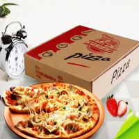 Buy cheap Custom Brown Kraft Corrugated Pizza Boxes product