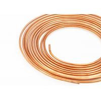 Buy cheap Heat Conduction Aircon Copper Tubing , C11000 / C12000 / C12200 Copper Pipe product