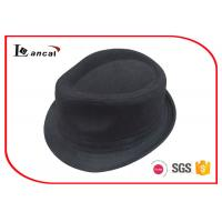 Buy cheap Black Herringbone Ladies Trilby Hats SGS / ITS / REACH compliance product