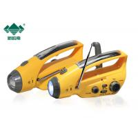 China Yellow USB Charging DC5.1V Dynamo Led Torch With AM / FM Radio on sale