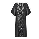 Buy cheap Seaside Stitching Lace Chiffon Dress / Holiday Sexy Long Sun Protection Dress product