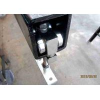 Buy cheap Heavy - Duty Partition Door Hardware Steel Stainless Wheel Black Color product
