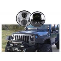 China 60W LED Headlights For Jeep Wrangler 7 Inch With Hi - Lo Beam Round on sale