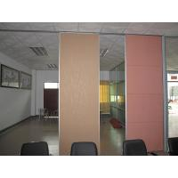China Mobile Wall Hotel Sound Proof Partitions Panel Thickness 65mm Laminated Board on sale