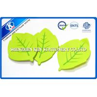 Buy cheap Green Memo desktop sticky notes Leaf Shaped For Kids , post sticky notes product