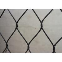 Buy cheap 1.6mm Black Oxide Wire Rope Mesh Stainless Steel Aviary Mesh from wholesalers