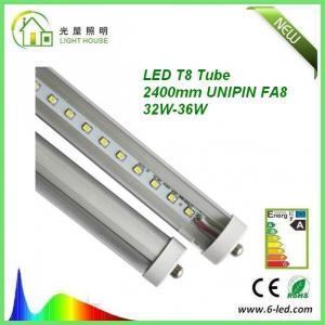 36w 2400mm Led Tube For Commercial Lighting , High Lumen t8 Led Tube120 lm / w
