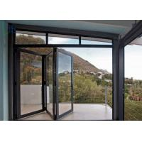 Buy cheap Custom Double Glass Aluminium Folding Doors For Exterior Patio / Aluminium Bifold Door product