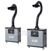 China Digital One Tube Fume Extraction Equipment 4 Wheels Mobile Type wholesale