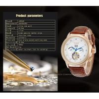 Buy cheap Hand Wind Precision Time Mens Automatic Watch With Brown Genuine Leather product