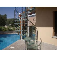 Buy cheap Contemporary stainless handrail glass spiral staircase product