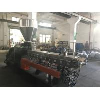 Buy cheap Parallel Twin Screw Extruder Co Rotating Excellent Mixing Performence 55kw product