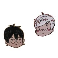 Buy cheap Cute Boy And Girl Style Hard Enamel lapel pin With Gold/ Rose Gold Plating from wholesalers
