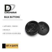 Buy cheap Bulk Flat Black ing Buttons • 4 holes • Plaid blazer • Clothing Accessories product