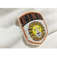 Buy cheap Merrow Border Custom Stitched Patches , Clothing Iron On Embroidered Patches For T Shirts product