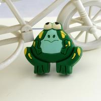 Buy cheap Zinc and rubber kids furniture knobs, frog cabinet knobs, plastic children drawer knobs product