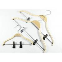 Buy cheap Metal Clips Attached Wooden Clothes Hangers Garment Industrial Usage product
