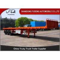 Buy cheap 3 axle flatbed truck trailer for sale 40ft or 20ft container delivery trailer product