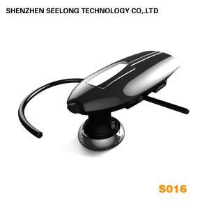 China Ear-hook ABS & PVC Mono Bluetooth Headset , Handsfree Motorcycle Helmet Headphone on sale