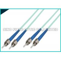 Buy cheap OS2  LC APC Fiber Optic Patch Cables Duplex Yellow OFNR Jacket Fibre Patch Leads product
