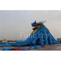 Buy cheap Dragon Theme Inflatable Water Slide For Adults / Kids 0.55mm PVC Tarpaulin product