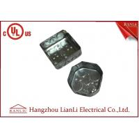 Buy cheap Square And Octangular Steel Outlet Box Metal Junction Box 1.6mm Thickness product