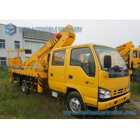 China ISUZU 600P High Altitude Operation Truck Aerial Platform Truck Double Row Cabin on sale