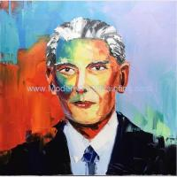 Buy cheap Portrait oil painting The Hero of Pakistan painted by Palette Knife Custom Oil Portrait from photo product