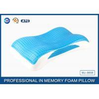 China Best Memory Foam Cool Wave Contour Side Sleeper Pillow with Luxury Tencel Pillow Cover wholesale