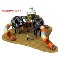 Buy cheap Sports Series Outdoor Playground Slides , Backyard Plastic Outdoor Slide Set product