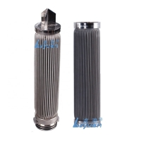 Buy cheap 10Inch SUS316 Pleated Filter Cartridge With End Cap Code 0 3 6 7 8 9 product