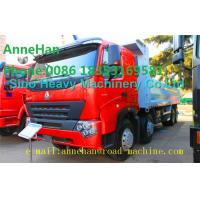 Buy cheap A7 Heavy Duty Dump Truck 8x4 380hp EUROIII Front lift HYVA 169 Cylinder product