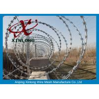 Buy cheap Eco-Friendly Razor Barbed Wire Prison Fence 0.5mm Thickness product