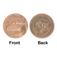 Buy cheap Army UH - 72 LAKOTA Plane Military Brass Plated Commemorative Coins For Gifts product