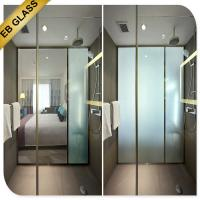 Buy cheap electric privacy glass bathroom partition EBGLASS product