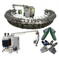 Buy cheap Good quality pu shoe soles pouring machine with rotary production line product