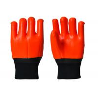 China Antisepsis PVC Hand Gloves , Cold Weather Work Gloves Excellent Slip Resistance on sale