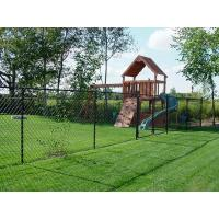 China Durable Iron Wire Boundary Wall chain link fencing For Sport Yard / Road Fence on sale