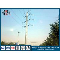 Buy cheap 50FT 2 Sections 69KV Electrical Power Transmission Pole With Galvanization / Bitumen product