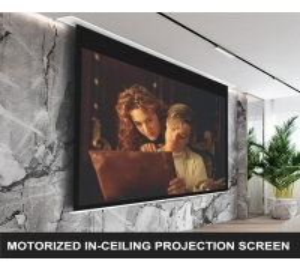 Buy cheap Aluminum Recessed Tab Tensioned Motorized Screen IR product