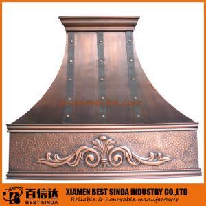 Buy cheap 槌で打たれた台所壁に取り付けられた排気の銅のフード product